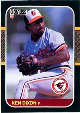Buy Ken Dixon 1987 Donruss Baseball Card Baltimore Orioles