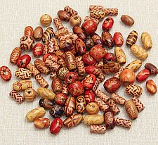 Buy 100pcs wooden beads