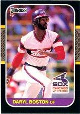Buy Daryl Boston 1987 Donruss Baseball Card Chicago White Sox