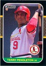 Buy Terry Pendleton 1987 Donruss Baseball Card St. Louis Cardinals