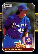 Buy Rick Mahler 1987 Donruss Baseball Card Atlanta Braves