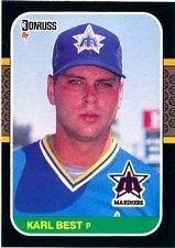 Buy Karl Best 1987 Donruss Baseball Card Seattle Mariners