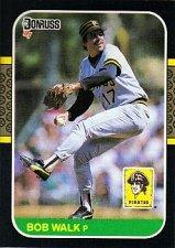 Buy Bob Walk 1987 Donruss Baseball Card Pittsburgh Pirates