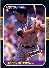 Buy Terry Kennedy 1987 Donruss Baseball Card San Diego Padres
