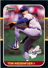 Buy Tom Niedenfuer 1987 Donruss Baseball Card Chicago Los Angeles Dodgers