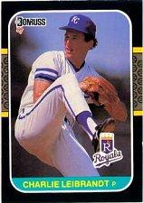 Buy Charlie Leibrandt 1987 Donruss Baseball Card Chicago Kansas City Royals