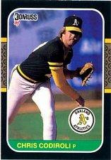 Buy Chris Codiroli 1987 Donruss Baseball Card Oakland Athletics