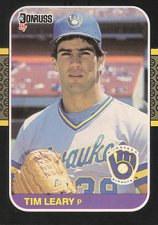 Buy Tim Leary 1987 Donruss Baseball Card Milwaukee Brewers