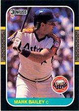 Buy Mark Bailey 1987 Donruss Baseball Card Houston Astros