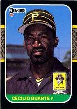 Buy Cecilio Guante 1987 Donruss Baseball Card Pittsburgh Pirates