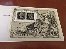 Buy Great Britain Penny Black ann. SS mnh 1990