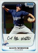 Buy Allen Webster #BCP89 - Dodgers 2011 Bowman Crome Baseball Trading Card