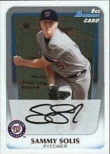 Buy Sammy Solis #BP106 - Nationals 2011 Bowman Baseball Trading Card