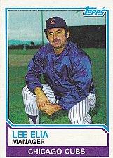 Buy Lee Elia #456 - Cubs 1983 Topps Baseball Trading Card