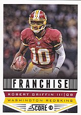 Buy Robert Griffin III - Redskins 2013 Score Football Trading Card #289