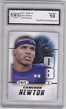 Buy Cam Newton #100 - Graded Rookie (Right Side) - SWG 10 MINT - 2011 Sage Hit Football C