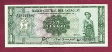 Buy Paraguay 1 Guarani 1952 Banknote A27527847 - Withdrawn from Circulation - UNC