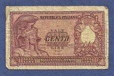 Buy ITALY 100 LIRE 1951 NOTE DI CRISTINA-CAVALLARO-019669 - Helmeted FAVALOSO!
