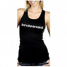 Buy Four(4) 3D 'bridesmaid' Black Tank Top Size Medium NEW
