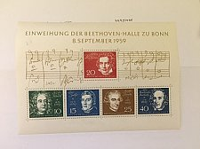 Buy Germany Beethoven s/s mnh 1959 #1
