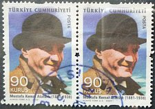 Buy Stamp Turkey 2009 Definitive Stamps Depicting Kamal Ataturk 90 Kurus Pair