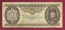 Buy Hungary 50 Forint 1989 Magayar Nemzeti Bank Banknote 049421- Prince F.Rakoczi