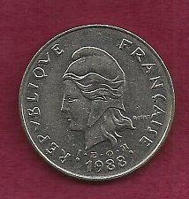 Buy FRANCE 50 Francs 1988 Coin - French Polynesia - Tropical Island