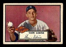 Buy Vintage Vintage RARE 1952 Topps #342 Clem Labine RC VG