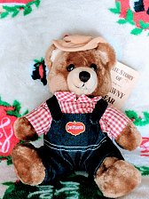 Buy Vintage DelMonte farmer bear 5 inch plush Nice