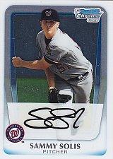 Buy Sammy Solis #BCP106 - Nationals 2011 Bowman Chrome Baseball Trading Card