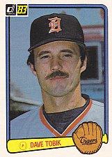 Buy David Vance Tobik #385 - Tigers 1983 Donruss Baseball Trading Card
