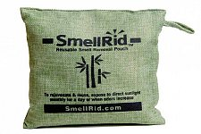 "Buy SMELLRID Reusable Charcoal Odor Eliminator Pouch-X Large (6"" x 6""):Treats 150 sq. ft."