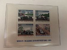 Buy Germany Berlin Avus Races s/s mnh 1971
