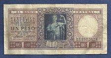 Buy Argentina 1 (Un) Peso 1947 Banknote 25857387A - Justice Sword & Scale p260 Banknote