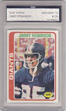 Buy Jimmy Robinson - Graded - FGS 10 MINT - 1978 Topps Football Card #139