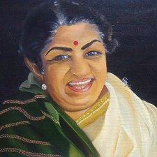 Buy Lata Mangeshkar The Lagend Oil Painting