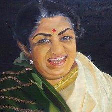 Buy Lata Mangeshkar The Lagend Oil Painting