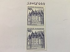 Buy Germany Castle strip 10+10 imperf mnh 1977 #2