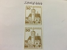 Buy Germany Castle strip 30+30 imperf mnh 1977