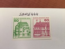 Buy Berlin Castle strip 50+60 bottom imperf mnh 1980