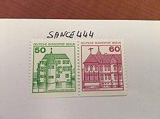 Buy Berlin Castle strip 50+60 bottom imperf mnh 1980
