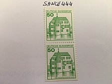 Buy Germany Castle strip 50+50 imperf mnh 1980