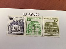 Buy Germany Castle strip 10+50+80 top imperf mnh 1980