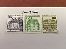 Buy Germany Castle strip 10+50+80 bottom imperf mnh 1980