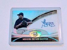 Buy MLB MIGUEL DELOS SANTOS AUTOGRAPH 2011 BOWMAN PLATINUM MNT