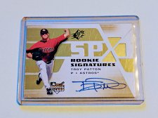 Buy MLB TROY PATTON AUTOGRAPH 2008 UPPER DECK SPX ROOKIE MNT