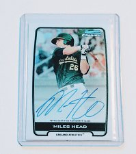 Buy MLB MILES HEAD AUTOGRAPHED​ 2012 BOWMAN CHROME MNT