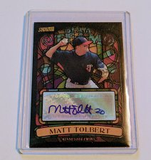 Buy MLB MATT TOLBERT AUTOGRAPHED 2008 TOPPS STADIUM CLUB STAINED GLASS MNT