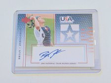 Buy MLB BRIAN JEROLOMAN AUTOGRAPHED 2005 UPPER DECK AND WORN USA JERSEY