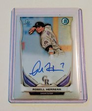 Buy MLB ROSELL HERRERA AUTOGRAPHED 2014 BOWMAN CHROME FIRST RC MINT